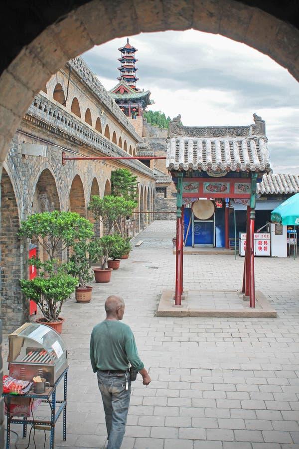 La casa del canciller, del hombre y de la pagoda de Huangchang imágenes de archivo libres de regalías