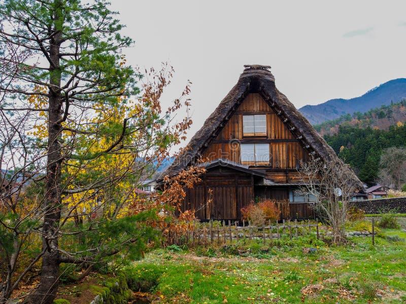 La casa del estilo de Gassho-Zukuri adentro Shirakawa-va, prefectura de Gifu, Japón fotos de archivo libres de regalías