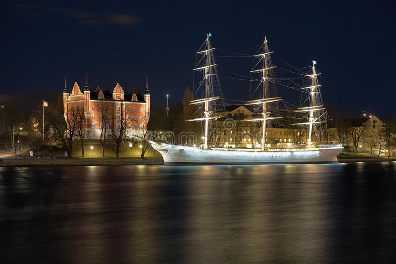 La casa del Ministerio de marina y el buhonero del af expiden, Estocolmo imagen de archivo libre de regalías