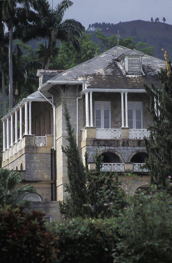 La casa del presidente de la república, Trinidad and Tobago imagen de archivo