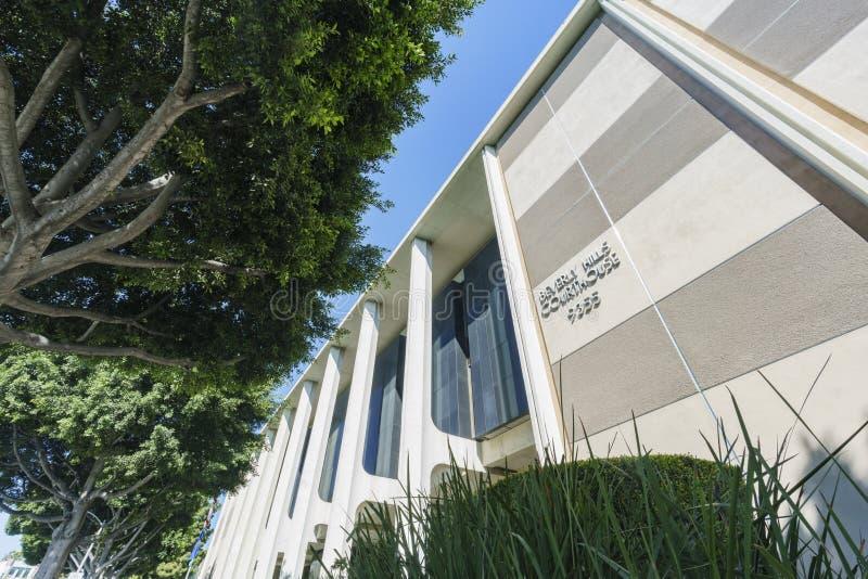 La casa di corte famosa di Beverly Hills immagini stock libere da diritti
