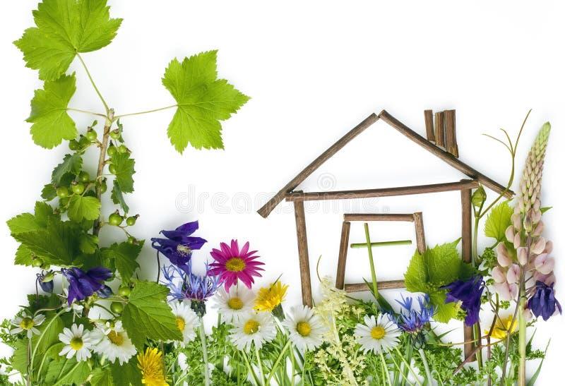 La casa di sogno verde dolce fotografia stock libera da diritti