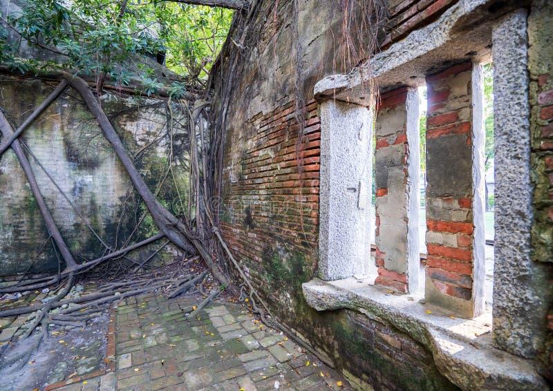 La casa en el árbol de Anping es un almacén anterior en el distrito de Anping, fotos de archivo