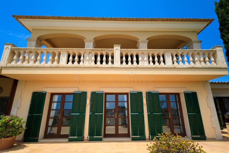 La casa española privada fotografía de archivo