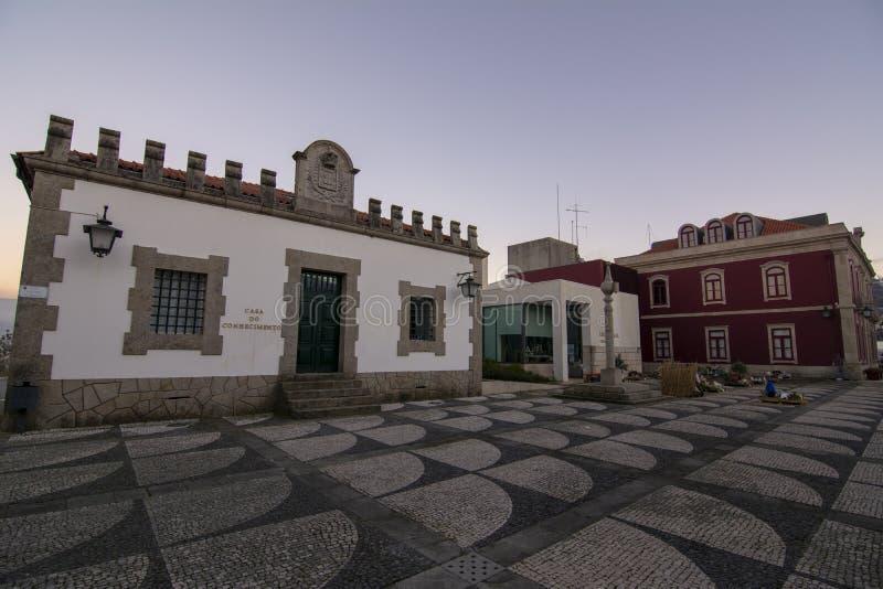 La casa fa il conhecemento nel centro di Paredes de Coura in Norte immagini stock