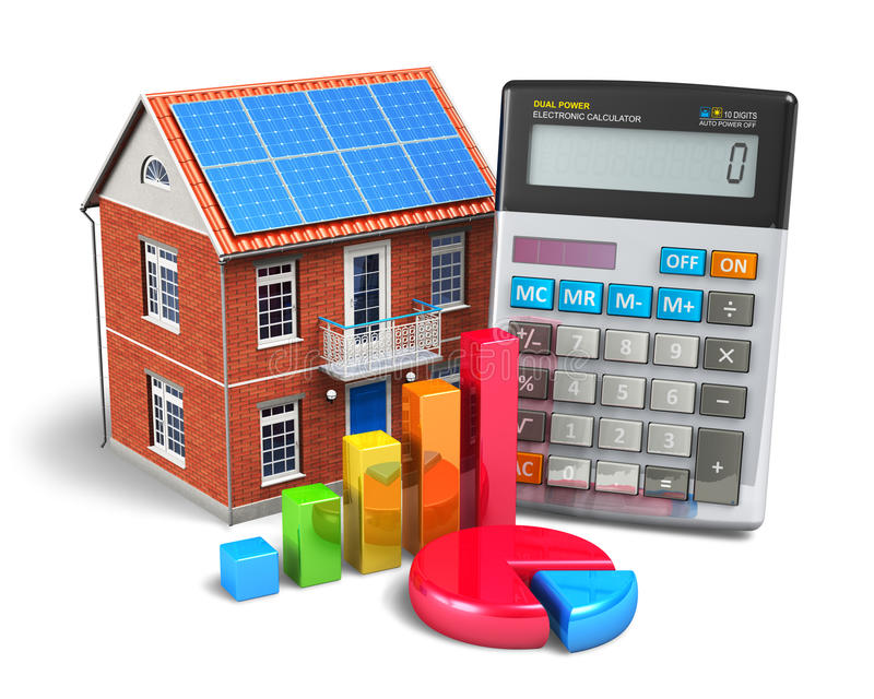 La casa finanzia il concetto illustrazione vettoriale