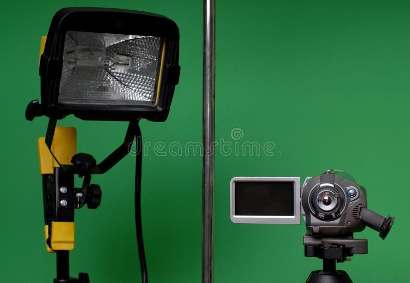 La casa ha fatto il video studio immagini stock libere da diritti