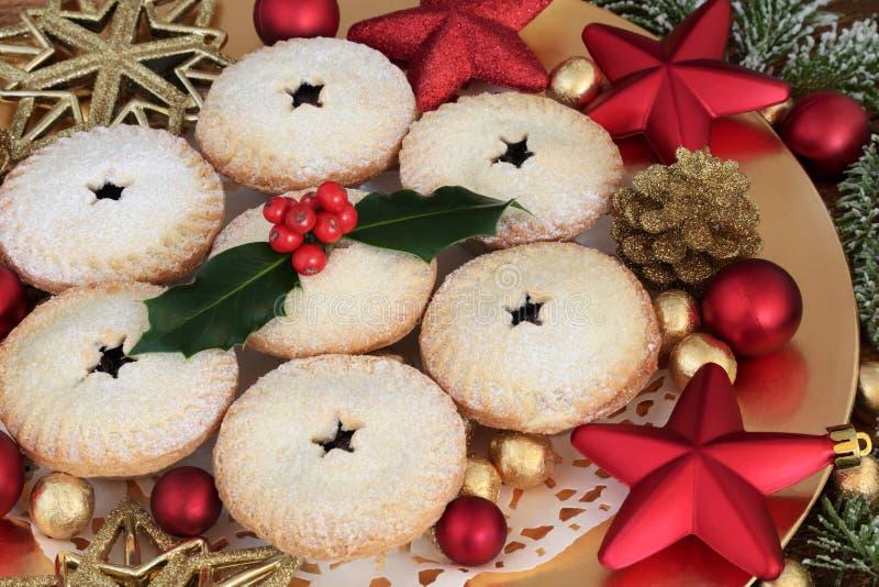 La casa ha prodotto i mince pie di Natale fotografie stock