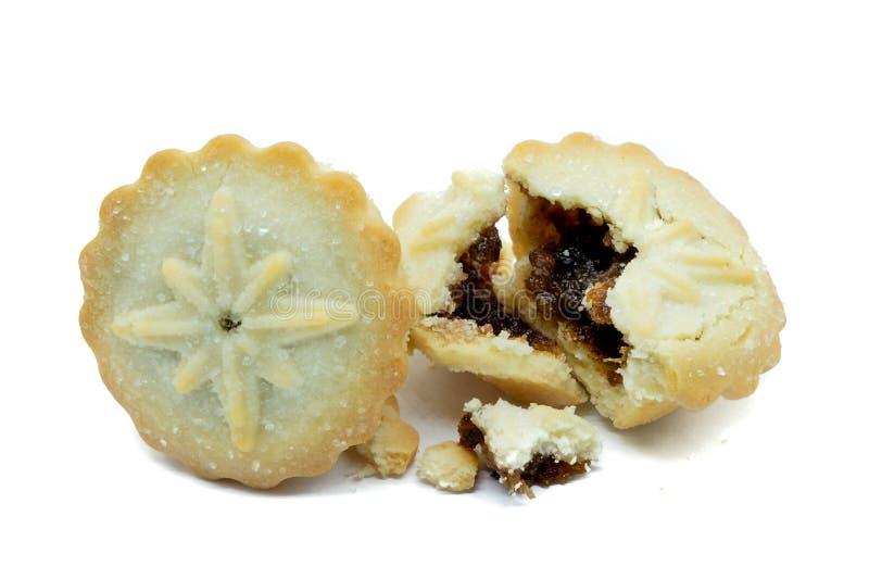 La casa ha prodotto i mince pie friabili di Natale immagini stock