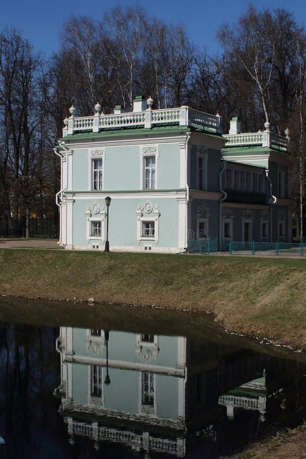 La casa italiana en el señorío de Kuskovo fotografía de archivo