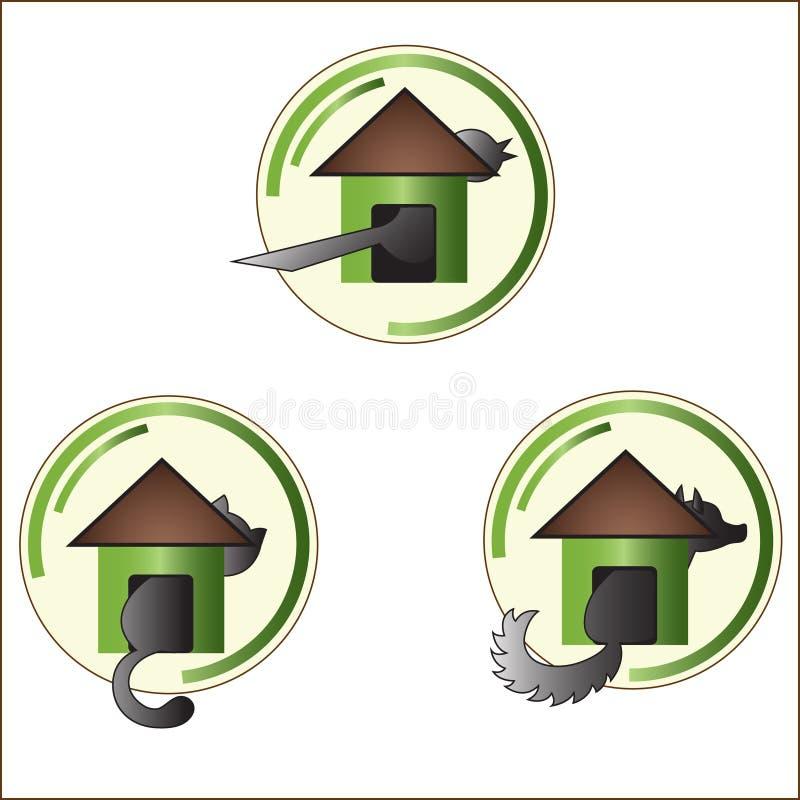 La casa para los pájaros y los animales libre illustration