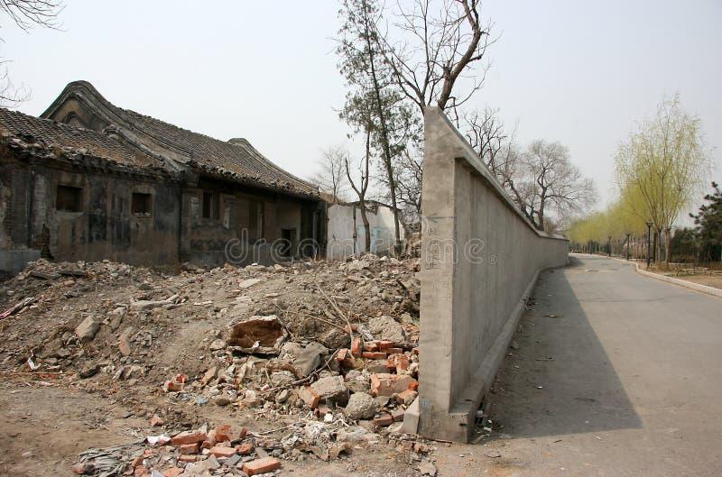 La casa residenziale tradizionale della Cina sta scomparendo immagini stock libere da diritti