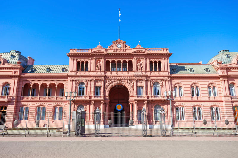 La Casa Rosada, Buenos Aires. La Casa Rosada or The Pink House is the executive mansion and office of the President of Argentina, located in Buenos Aires stock photo