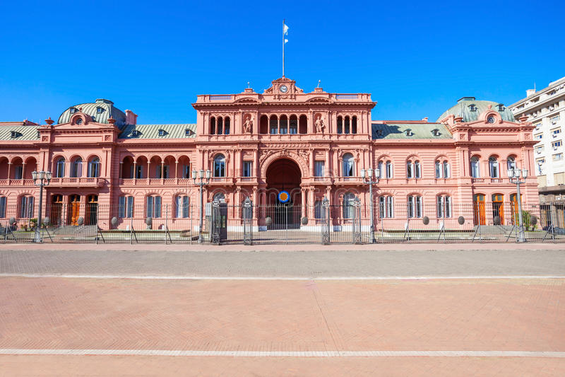 La Casa Rosada, Buenos Aires. La Casa Rosada or The Pink House is the executive mansion and office of the President of Argentina, located in Buenos Aires royalty free stock image