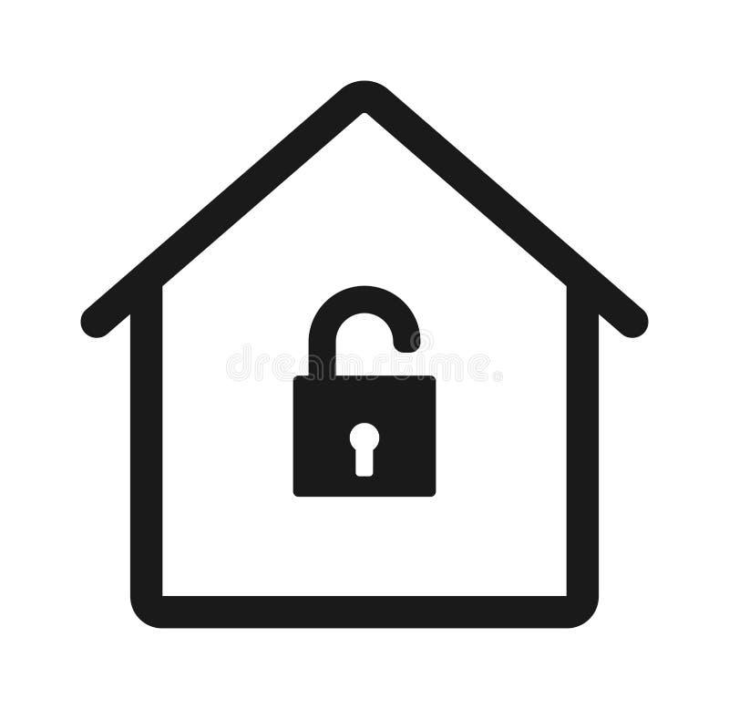 La casa sblocca l'icona illustrazione di stock