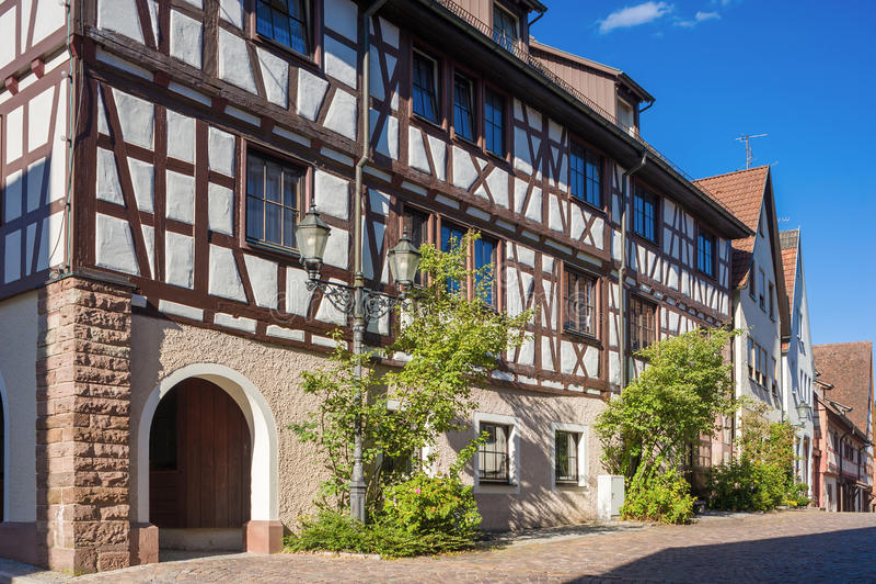 La casa superior de la puerta en Dornstetten foto de archivo libre de regalías
