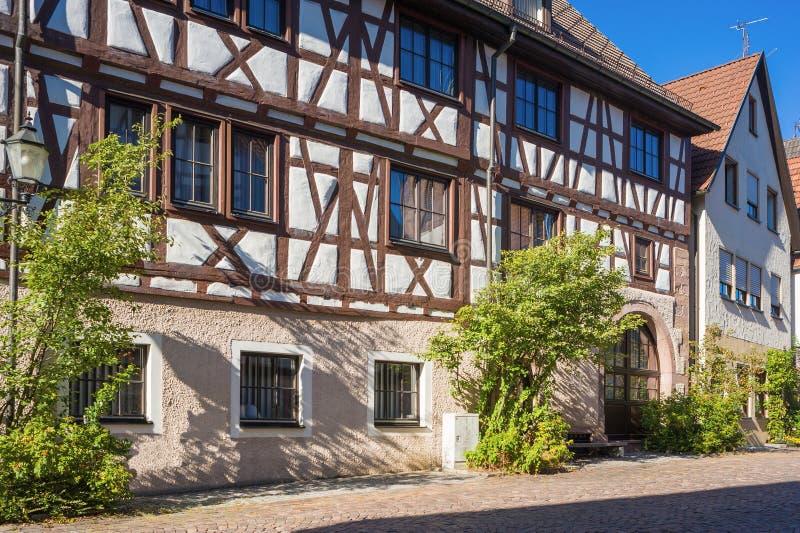 La casa superiore del portone in Dornstetten fotografia stock