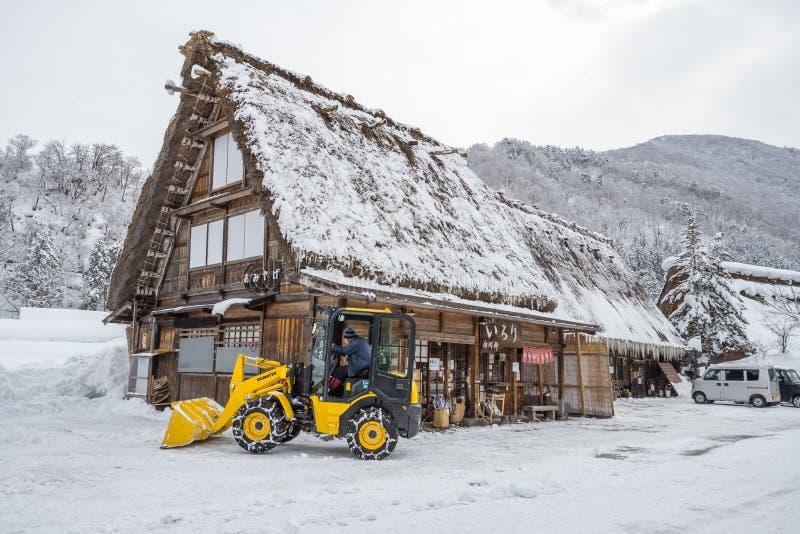 La casa tradizionale a Shirakawa va villaggio, Giappone immagini stock