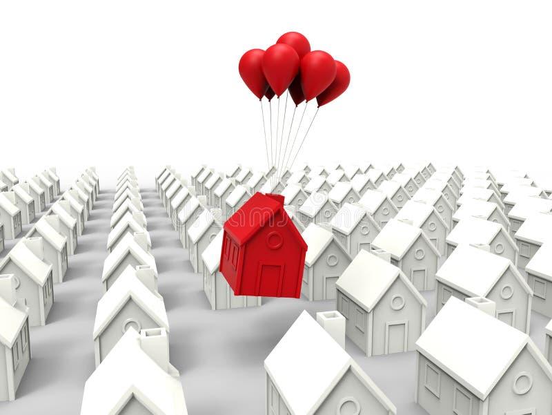 La casa vendió concepto ilustración del vector