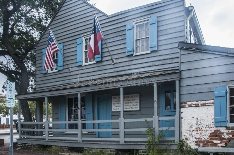 La casa vieja de los piratas, sabana, Georgia fotos de archivo
