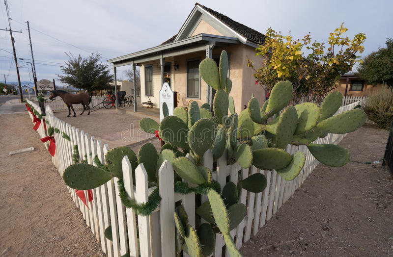 La casa y el museo del earp del wyatt en la piedra sepulcral Arizona fotos de archivo libres de regalías