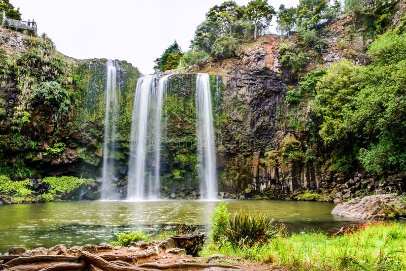 La cascada de Whangerei imagen de archivo libre de regalías