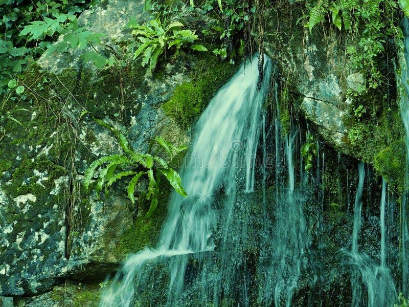 La cascada en el castillo de la lisonja pone a tierra Irlanda imagen de archivo