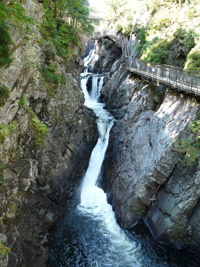 La cascada en el colmo cae garganta, Adirondacks, NY, los E.E.U.U. foto de archivo libre de regalías