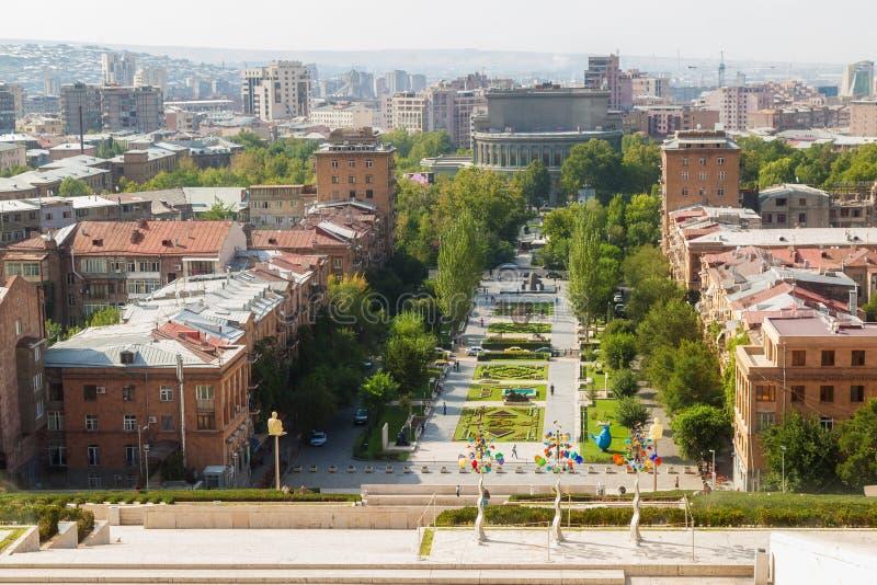 La cascada en Ereván imagen de archivo