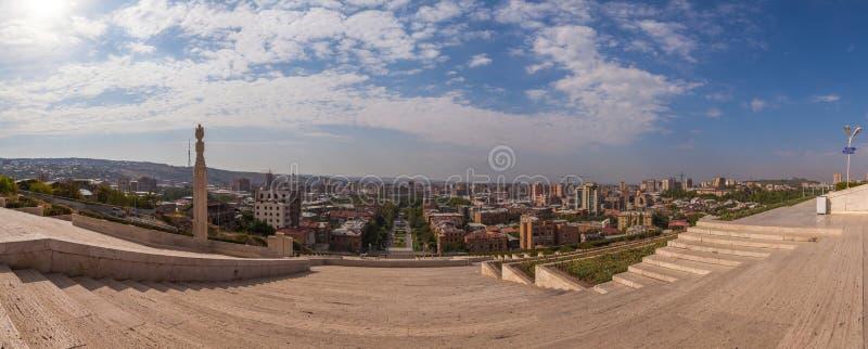 La cascada en Ereván foto de archivo