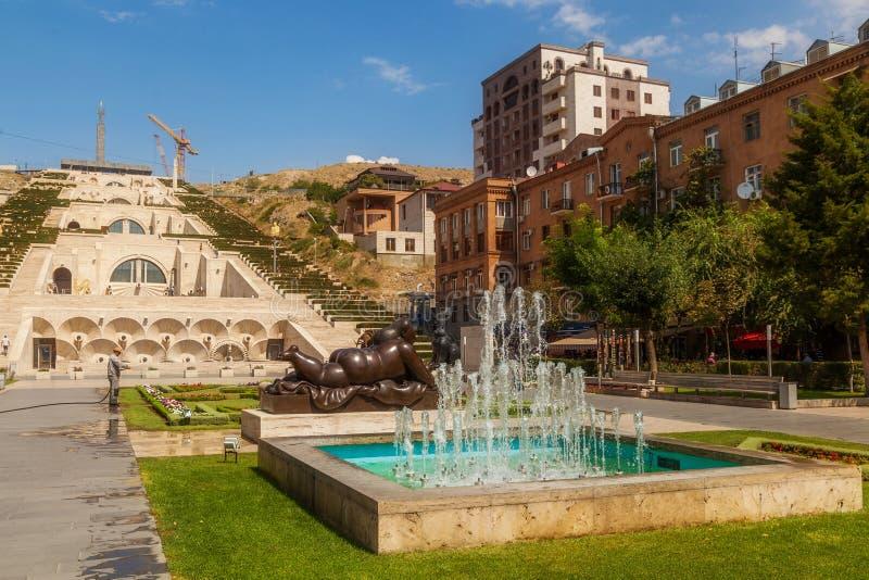 La cascada en Ereván foto de archivo libre de regalías
