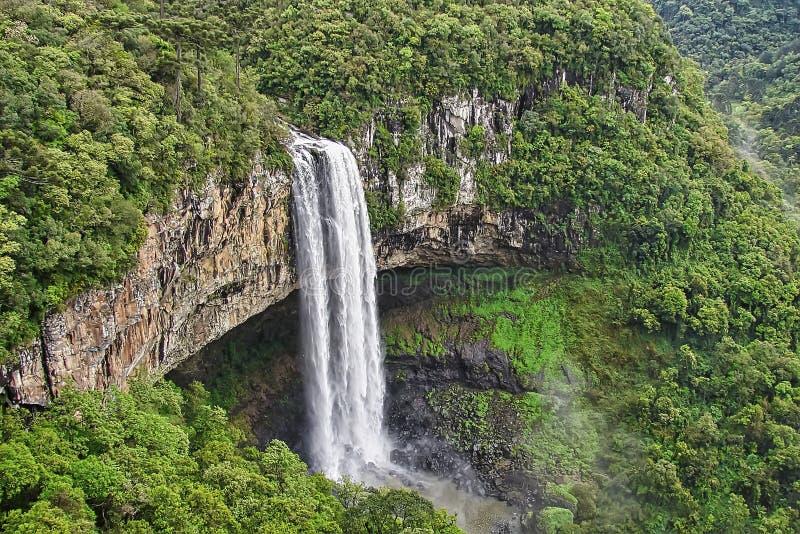 La cascade de Caracol en parc de Caracol - ville de Canela - Rio Grande font Sul - le Brésil photographie stock