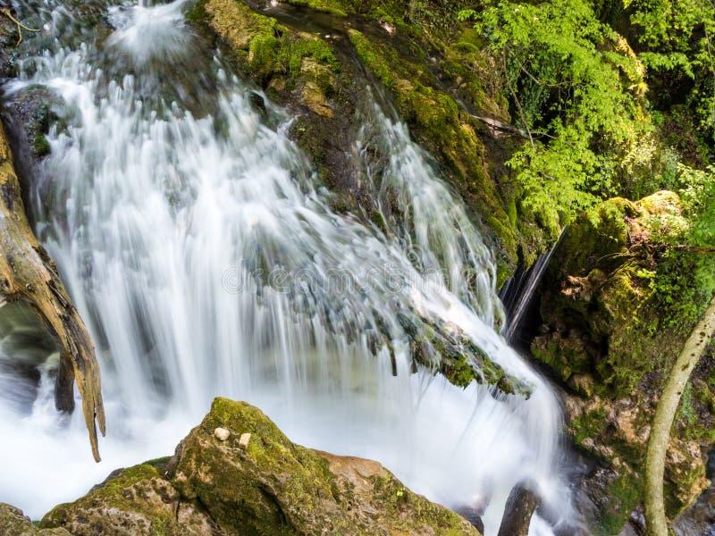 La cascade de Cheile Nerei Beusnita en parc national Nera se gorge photo libre de droits