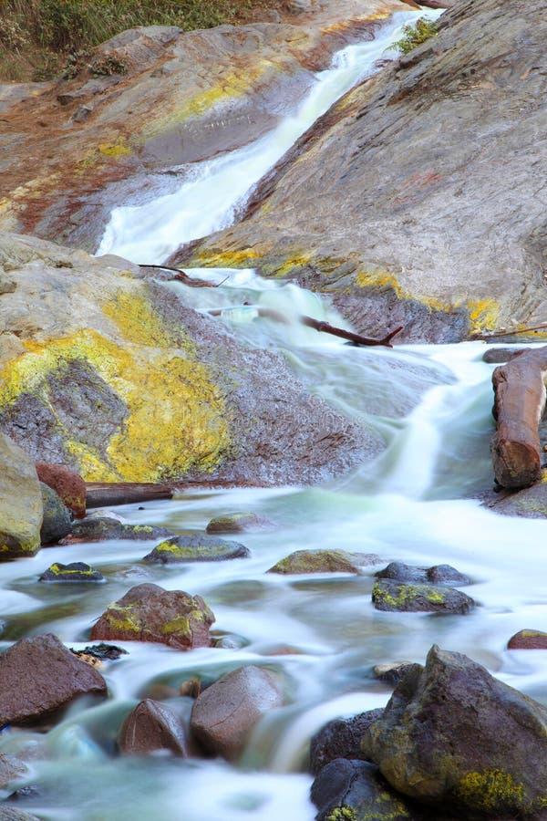 Download La Cascade De Sulfure Au Kawa Ijen L'Indonésie Photo stock - Image du paradis, course: 45357058