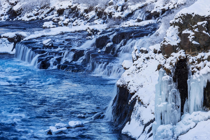 La cascade Hraunfossar photo stock