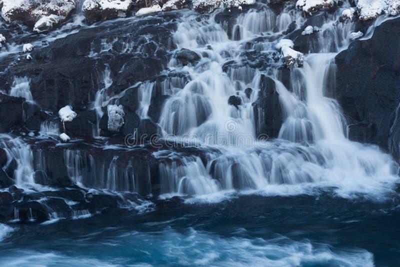 La cascade Hraunfossar image libre de droits