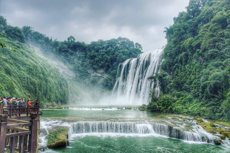 La cascade la plus large en Chine, cascade de Huangghoshu photos libres de droits