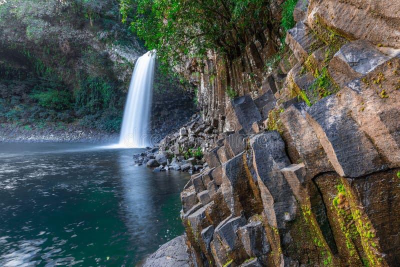 La cascata di Paix della La di Bassin in Reunion Island fotografia stock libera da diritti
