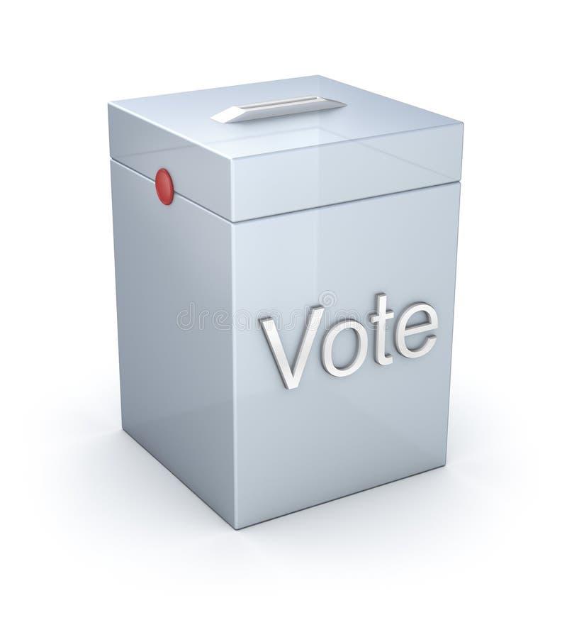 La casella di voto ha isolato illustrazione vettoriale