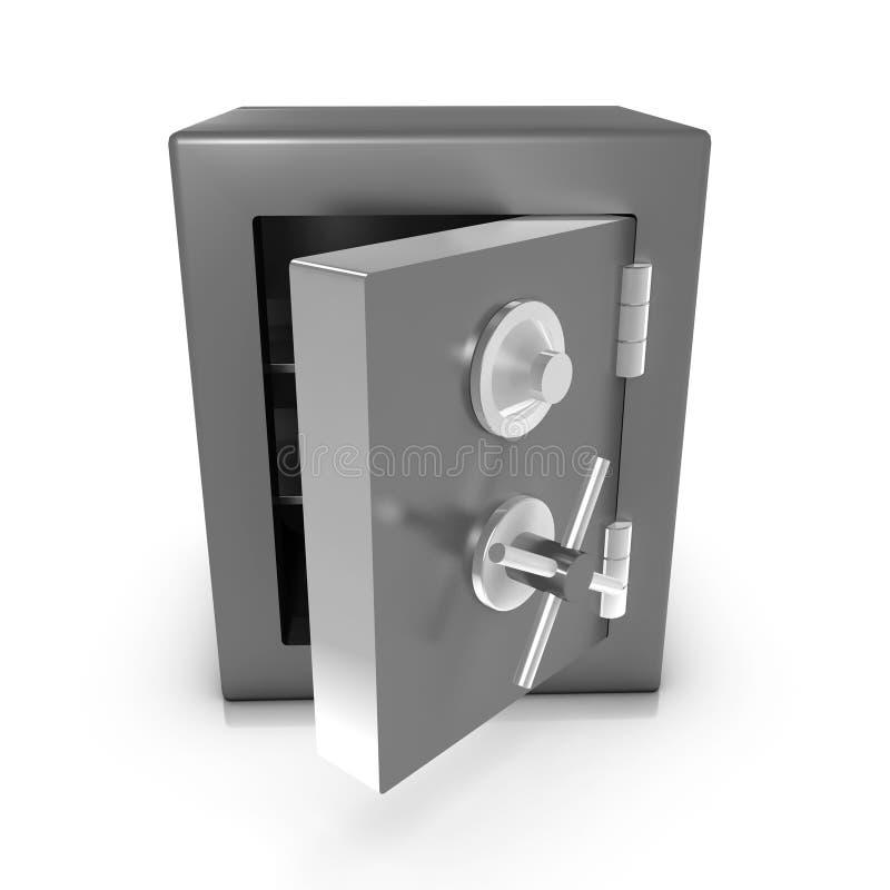 la cassaforte 3d è aperta illustrazione vettoriale