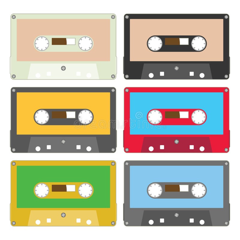 La cassetta audio ha fissato la I royalty illustrazione gratis