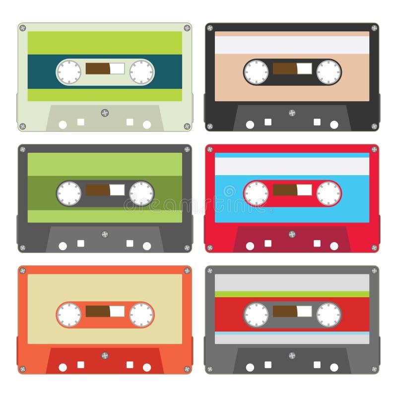 La cassetta audio ha impostato II illustrazione vettoriale
