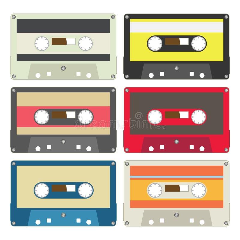 La cassetta audio ha impostato III royalty illustrazione gratis