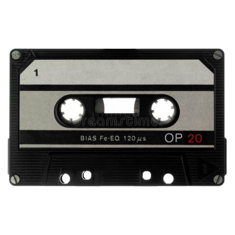 la cassette a isolé le vieux blanc photo libre de droits