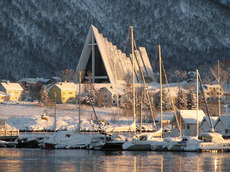 La catedral ártica imagenes de archivo