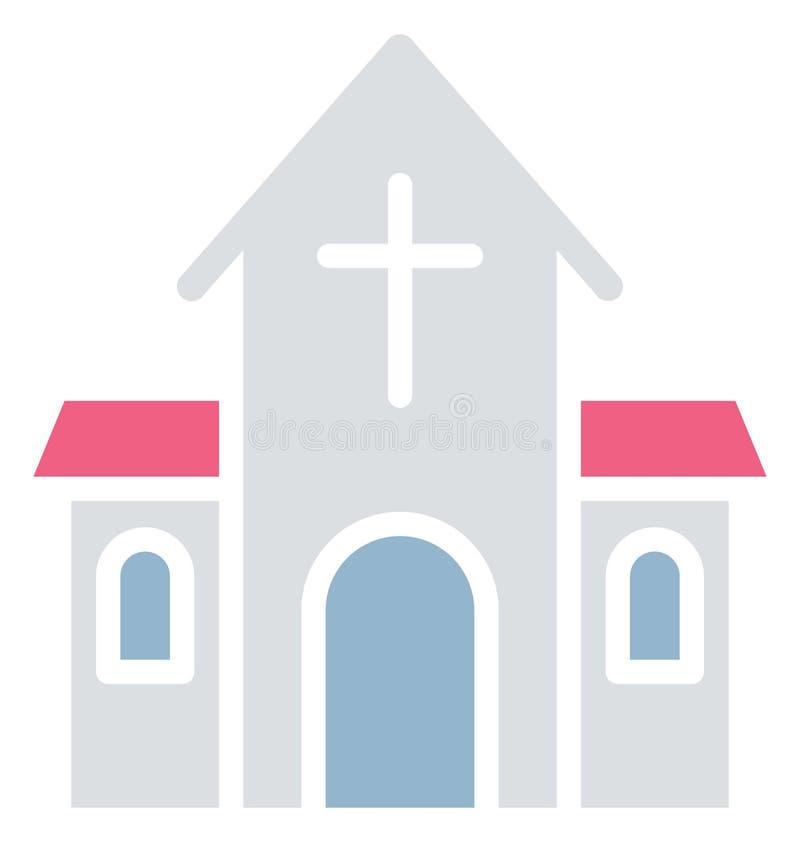 La catedral aisl? el icono del vector que puede modificarse o corregir f?cilmente ilustración del vector