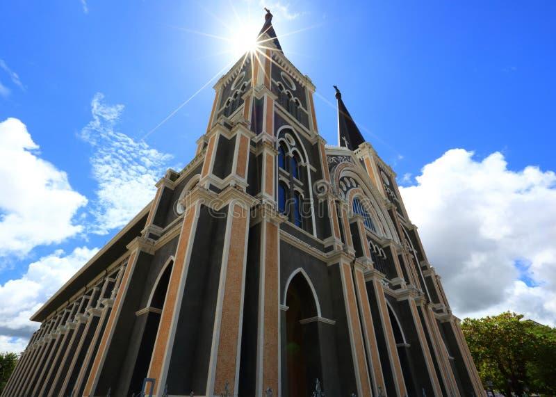 La catedral católica foto de archivo
