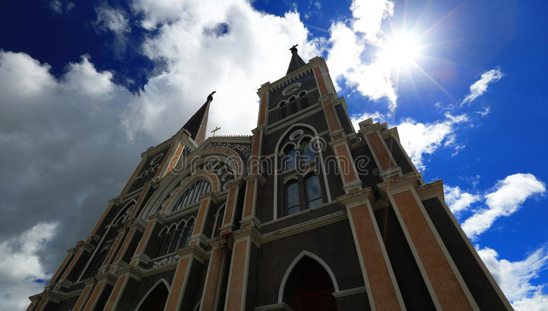 La catedral católica fotografía de archivo libre de regalías