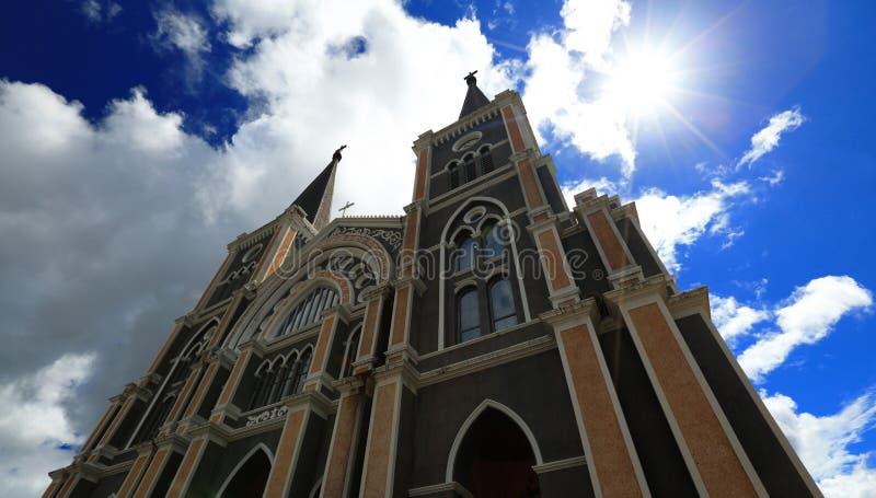 La catedral católica en Chantaburi foto de archivo