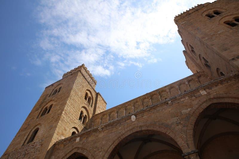 La catedral de Cefalu fotografía de archivo libre de regalías